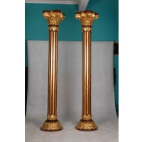 Indonesia furniture manufacturer and wholesaler Corinthian column 10 gold