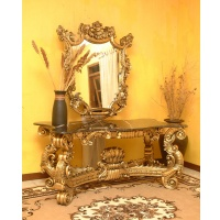 Indonesia furniture manufacturer and wholesaler Consol centre + mirror with marble