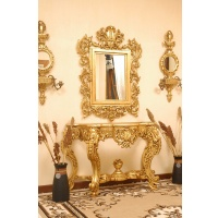 Indonesia furniture manufacturer and wholesaler Consol marie antoinette with mirror and marble