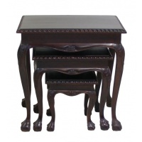 Indonesia furniture manufacturer and wholesaler Chippendale Nest of 3 Tables