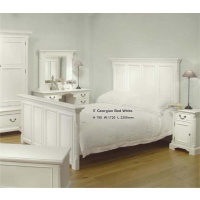Indonesia furniture manufacturer and wholesaler 5 Georgian Bed White