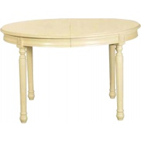 Indonesia furniture manufacturer and wholesaler Gustavian Round Extending Table Cream