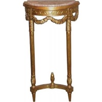 Indonesia furniture manufacturer and wholesaler Gilt Small Demi lune Hall Table