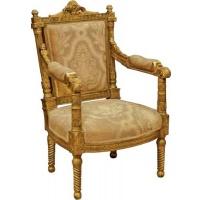 Indonesia furniture manufacturer and wholesaler Gilt Regency Armchair