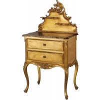 Indonesia furniture manufacturer and wholesaler Versailles Marble Bedside LH