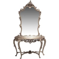 Indonesia furniture manufacturer and wholesaler Silver Console Table with Mirror