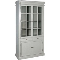 Indonesia furniture manufacturer and wholesaler Fayence 2 Door Glazed Bookcase