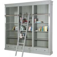 Indonesia furniture manufacturer and wholesaler Fayence Library Bookcase with Ladder