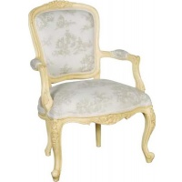 Indonesia furniture manufacturer and wholesaler Valbonne Carved Armchair Toile