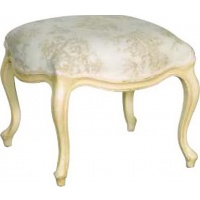 Indonesia furniture manufacturer and wholesaler Valbonne Footstool Toile
