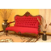 Indonesia furniture manufacturer and wholesaler Sofa marie antoinette 3 seaters  low back