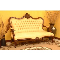 Indonesia furniture manufacturer and wholesaler Sofa louis philip 3 seaters  low back