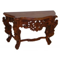 Indonesia furniture manufacturer and wholesaler Serpentine Rococo Console