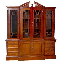 Indonesia furniture manufacturer and wholesaler bookcase A 4 door