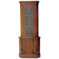 Indonesia furniture manufacturer and wholesaler corner cabinet 2 door