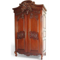 Indonesia furniture manufacturer and wholesaler flower carved armoire
